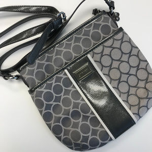 Nine West 🌺 Gray Fabric Crossbody Handbag